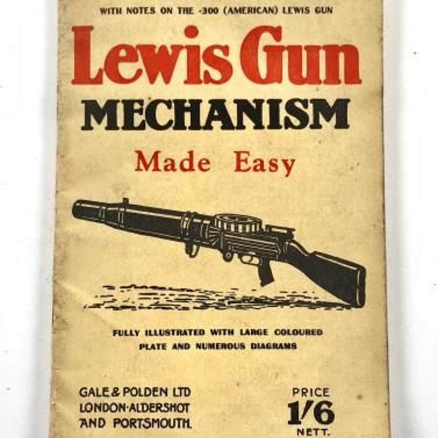 WW2 Home Guard Lewis Gun Users Booklet.