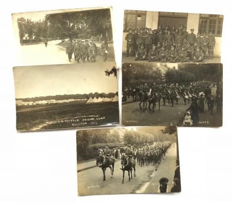 WW1 4th Bn Norfolk Regiment Photographic Postcards.
