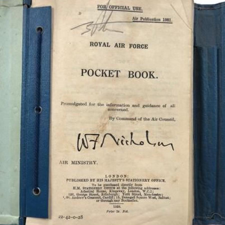 RAF 1928 Airman's Pocket Book.