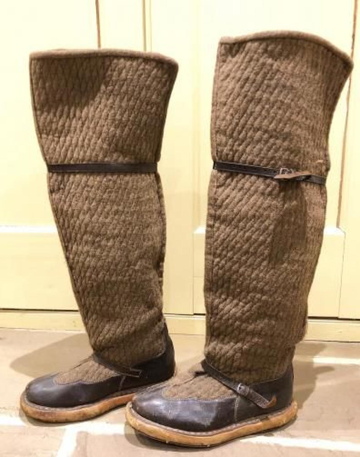 """RAF North West Frontier Aircrew """"Fug Boots"""""""