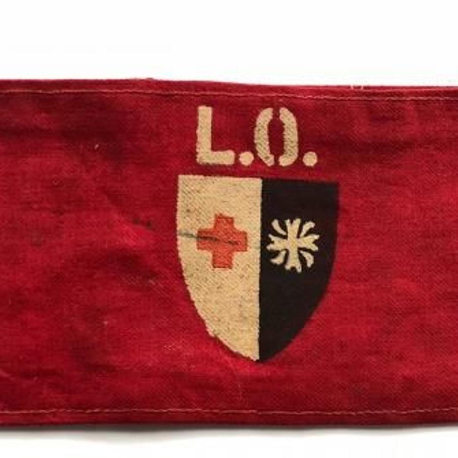 WW2 British Red Cross Society & Order of St John Armband