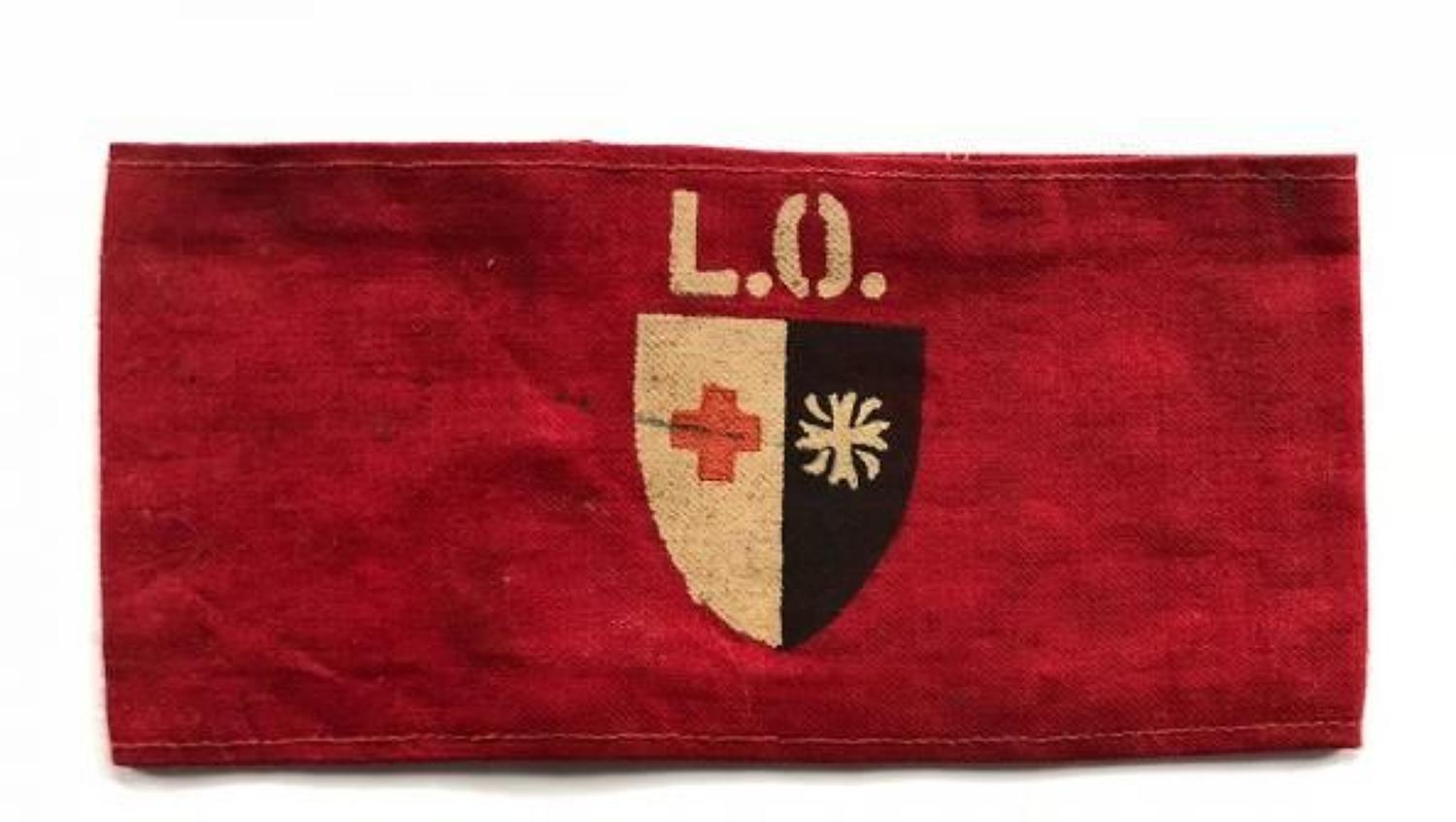 WW2 British Red Cross Society & Order of St John Armband