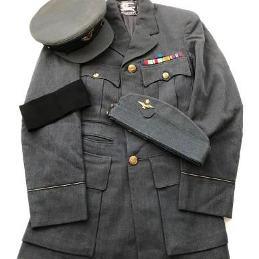 WW2 Pattern RAF Officer's Tunic & Caps Tailored by Burberrys Ltd.