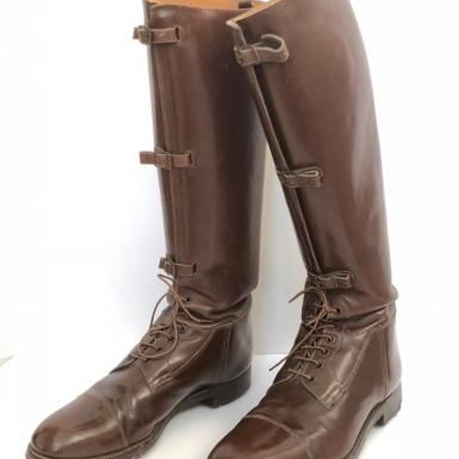 Late WW1 Interwar Pattern Officer's Boots.