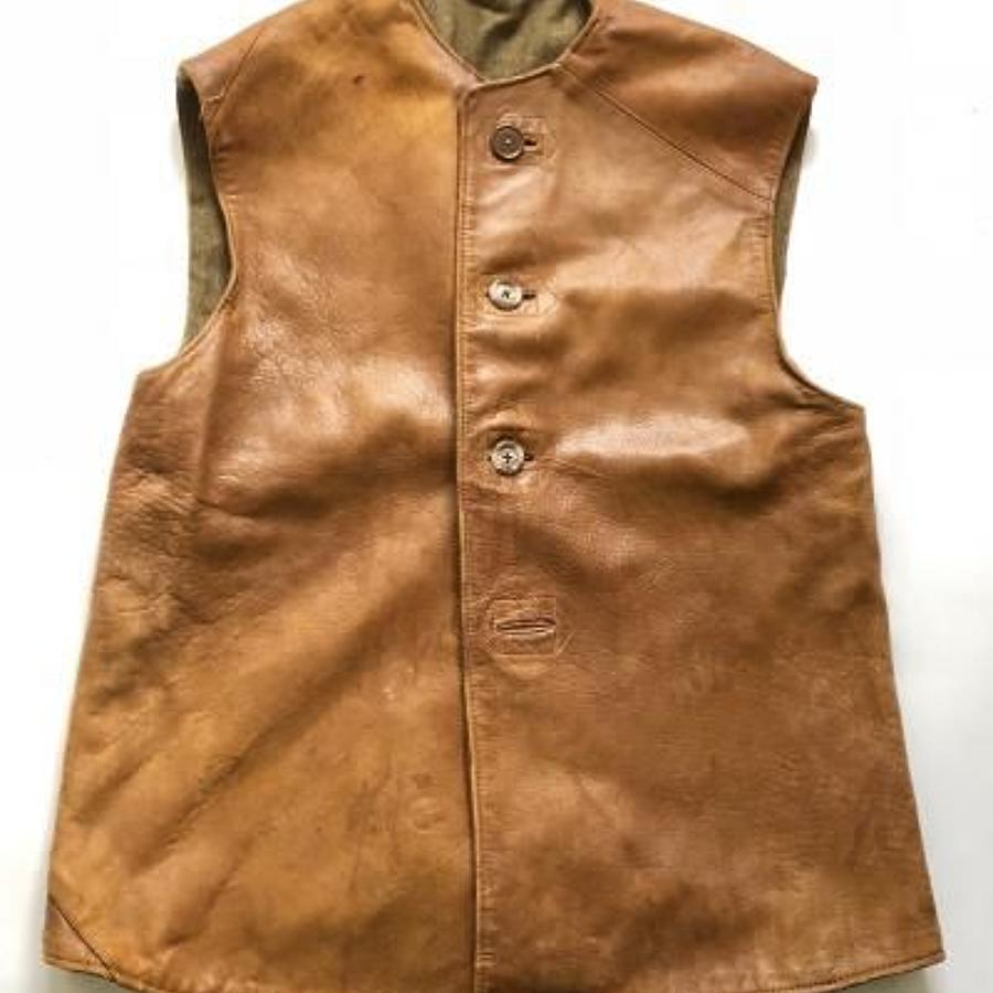 British Army 1944 Dated Leather Jerkin.