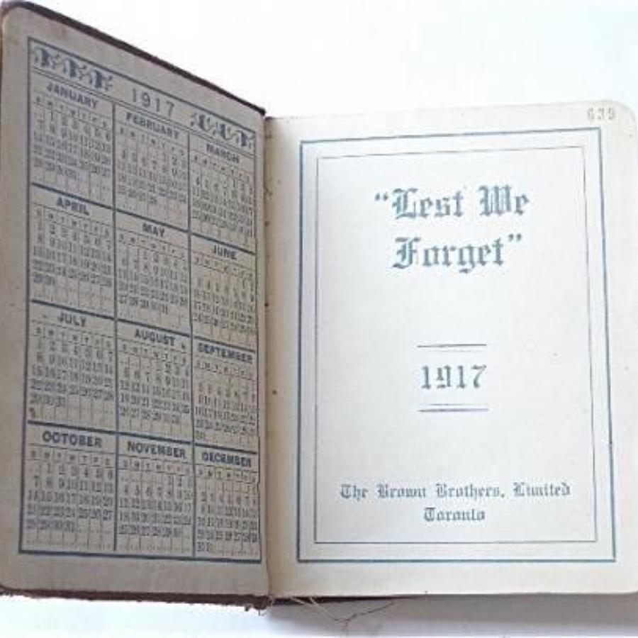 WW1 1917 Diary