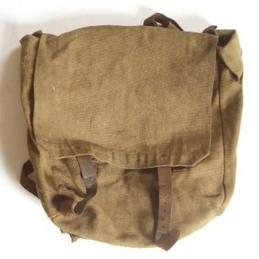 WW1 1914 British Infantry Equipment Large Pack with Field conversion.