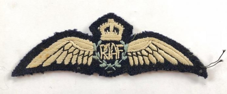 WW2 Royal Australian Air Force RAAF Pilot's Wings.