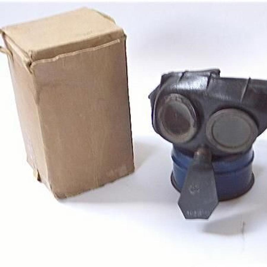 WW2 British Home Front Child's Mickey Mouse pattern Black Gas Mask