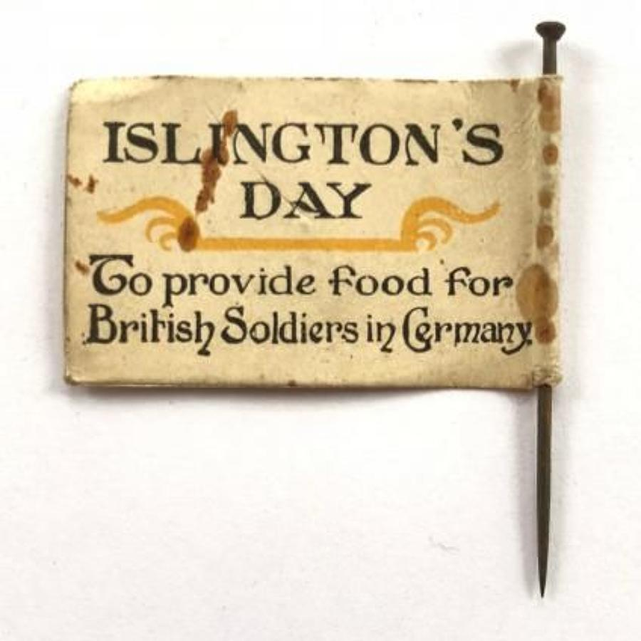 WW1 Flag Day Fundraising Paper Flag