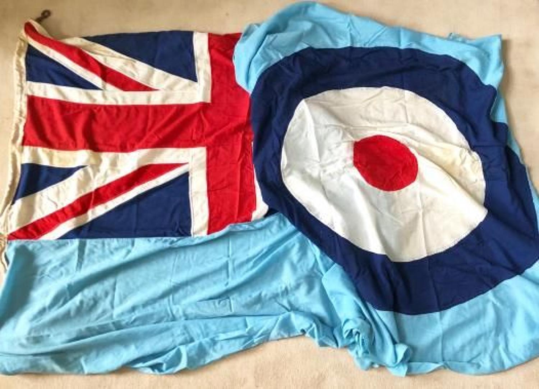 RAF Superb Original Large 12 Foot Cotton Station Ensign Flag