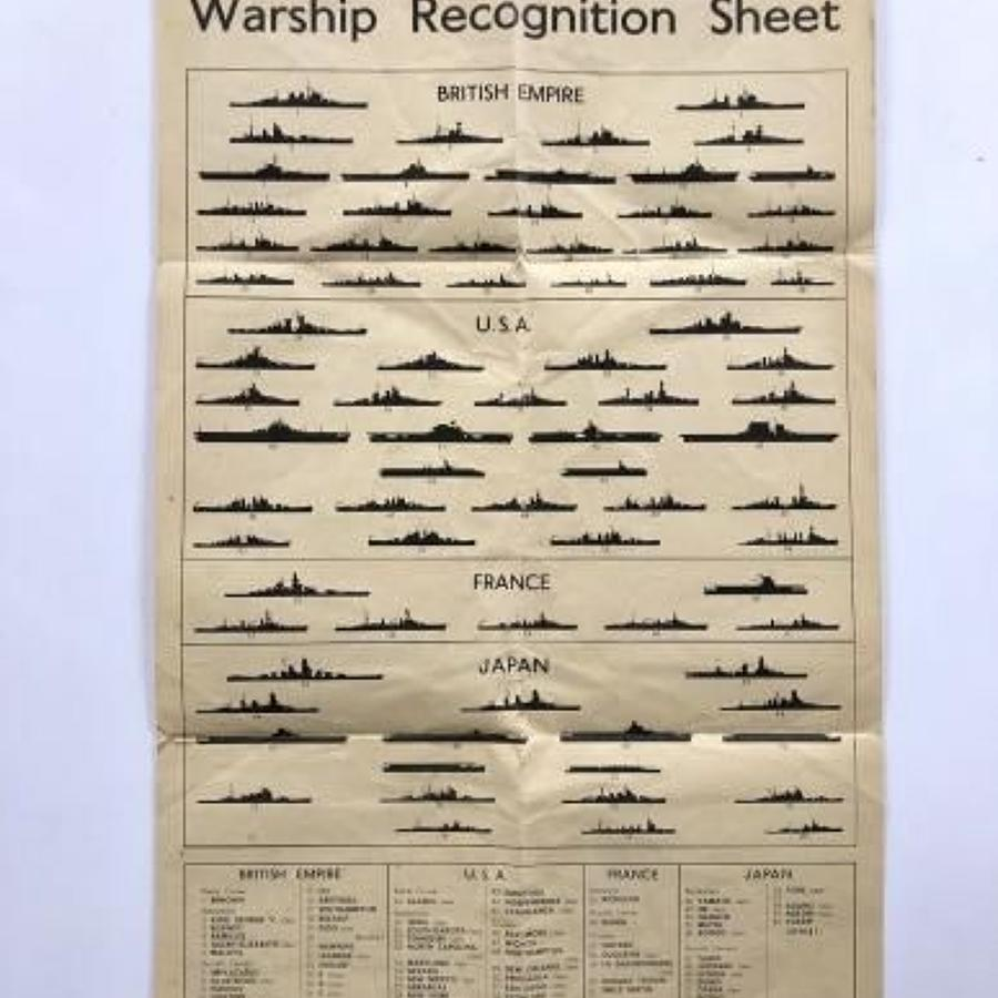 WW2 January 1945 Warship Recognition Sheet.