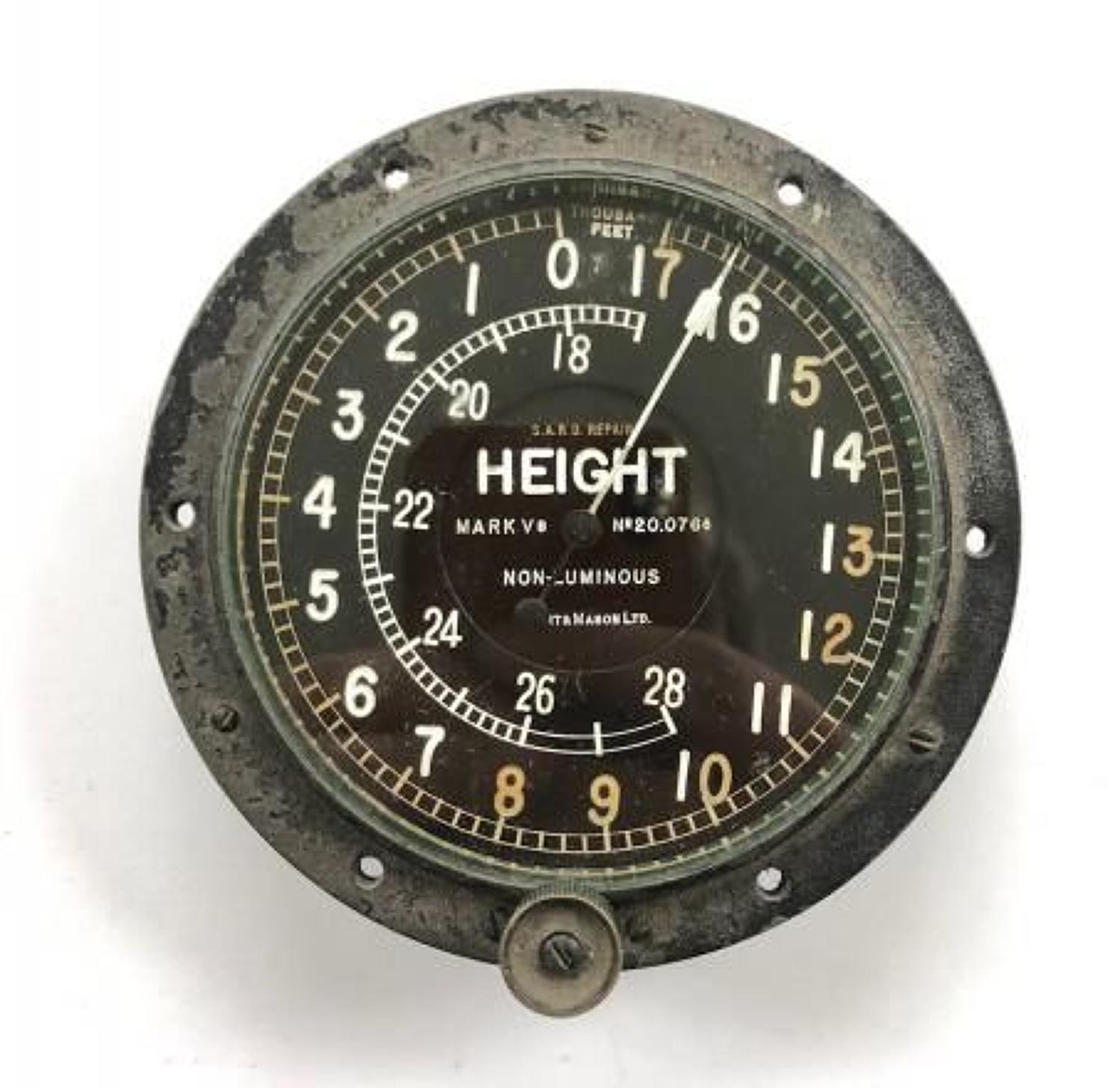 WW1 Period RFC, RNAS, RAF Aircraft Altimeter.