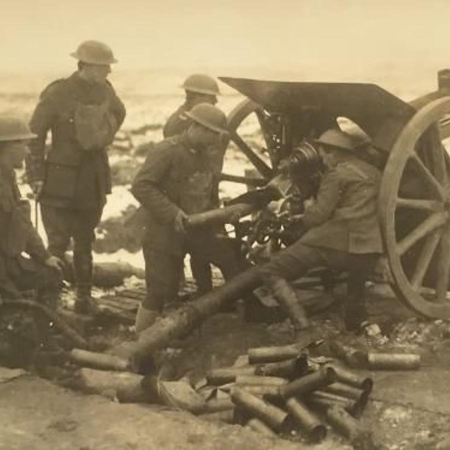 WW1 Royal Field Artillery Press Photograph.