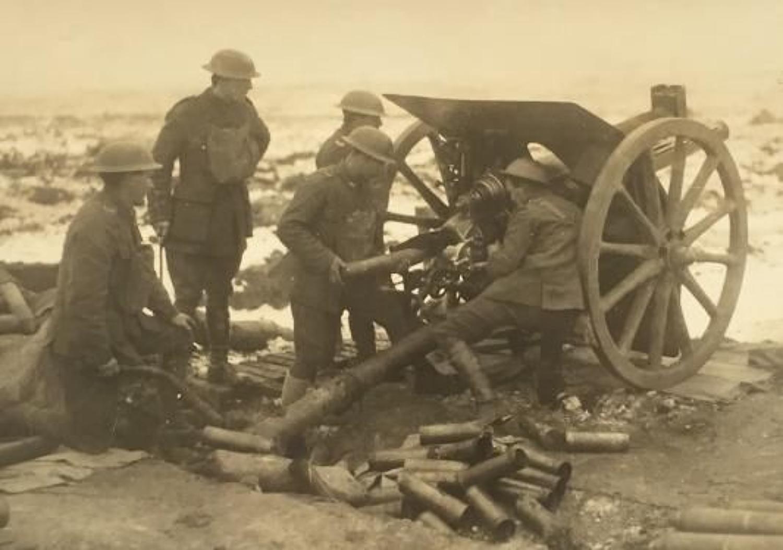 WW1 Royal Field Artillery Press Photograph.