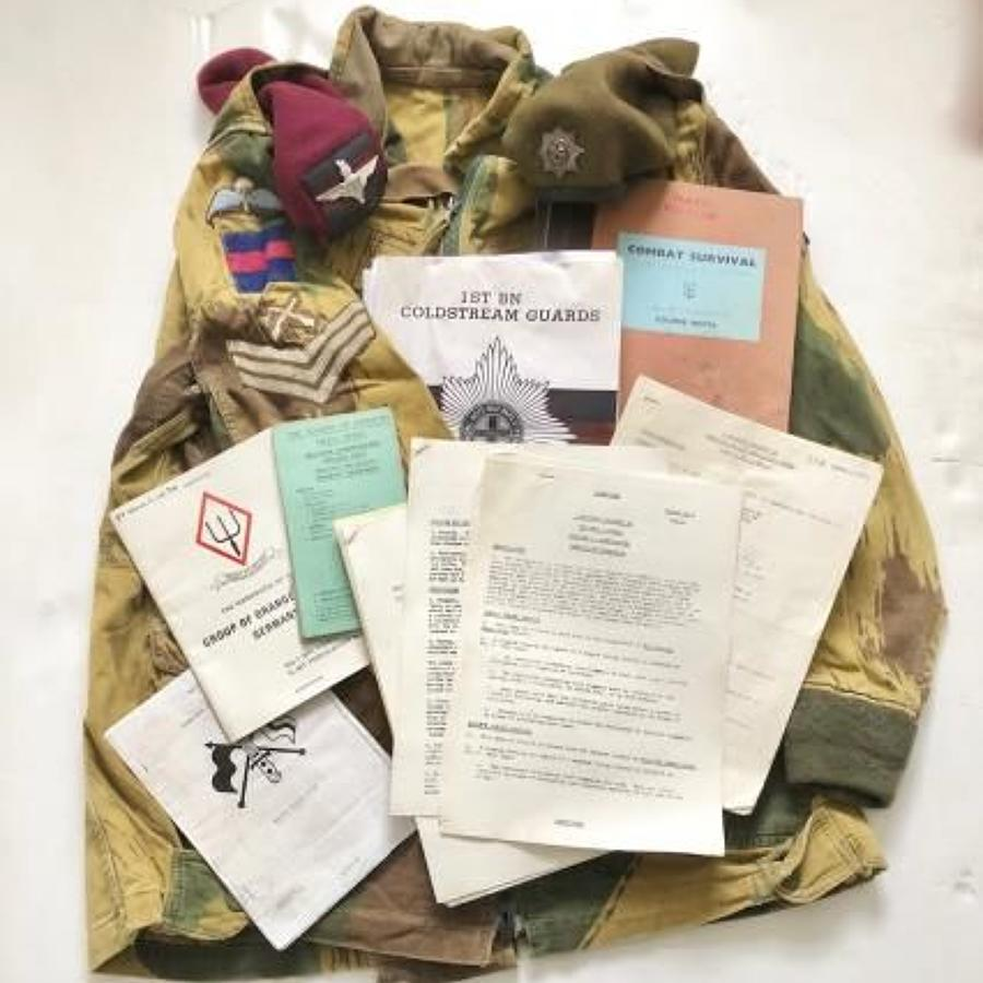 Cold War Period Coldstream Guards Parachute Platoon Jump Smock & Paper