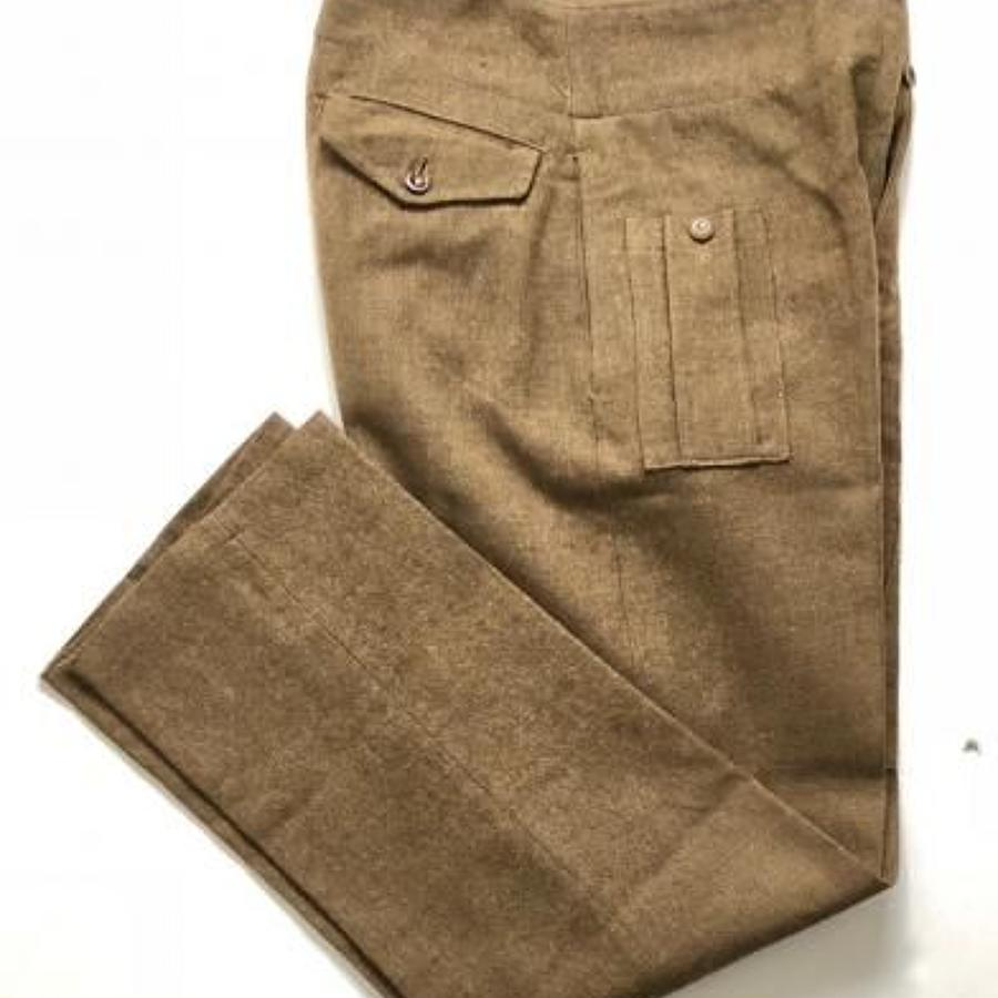 WW2 1943 Coded 1940 Pattern Battledress Trousers.