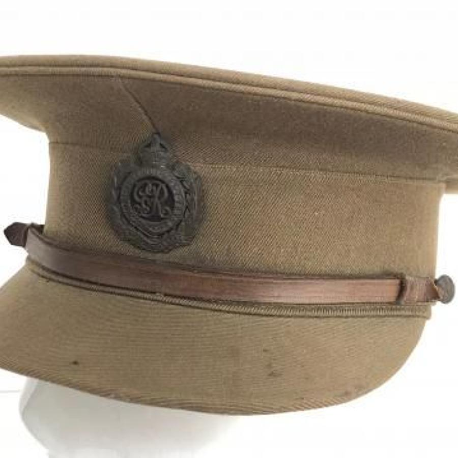 WW1 Royal Engineers Officer's Cap Devon Fortress Engineers interest.