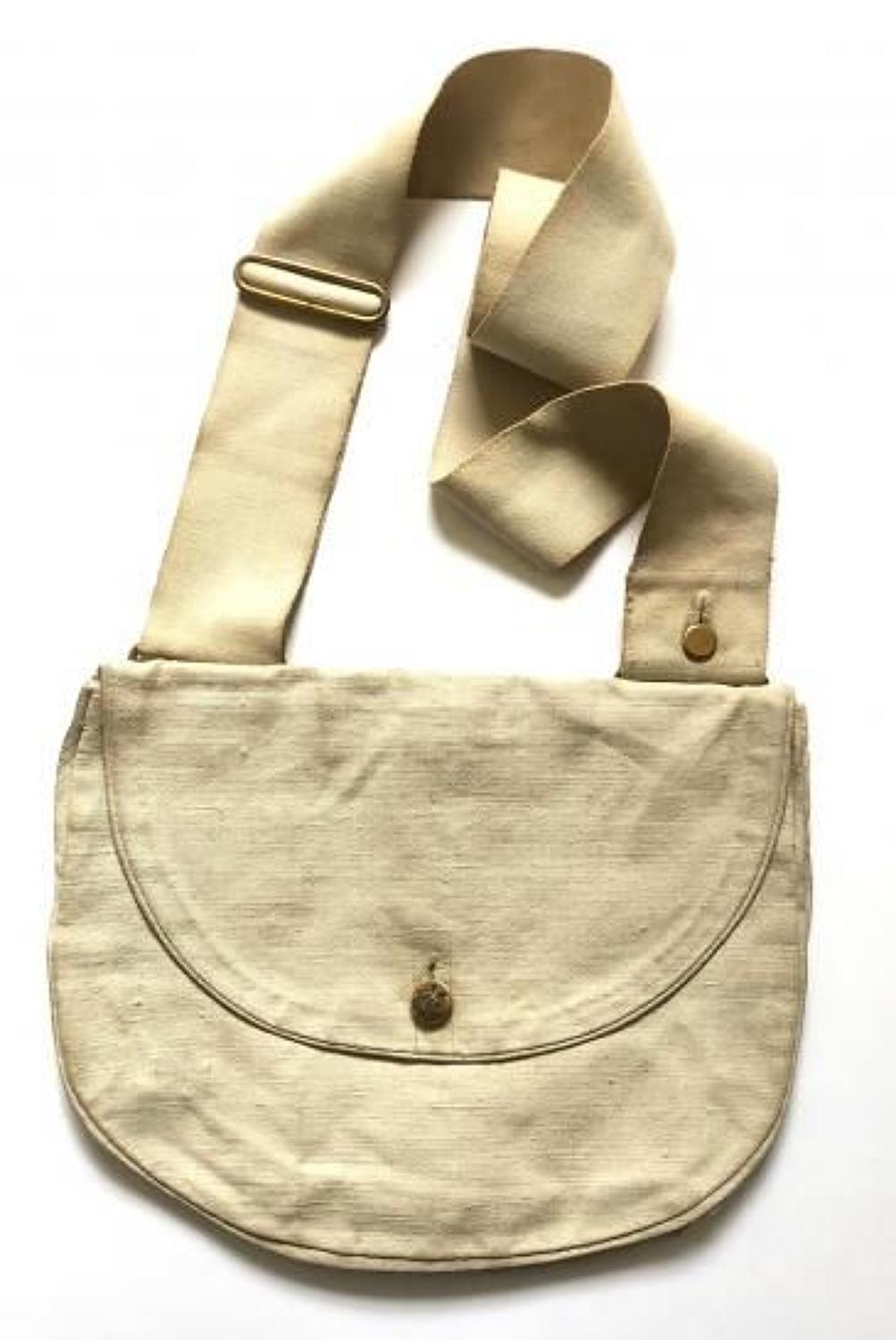 Victorian Scots Guards Officer's White Canvas Side Bag.