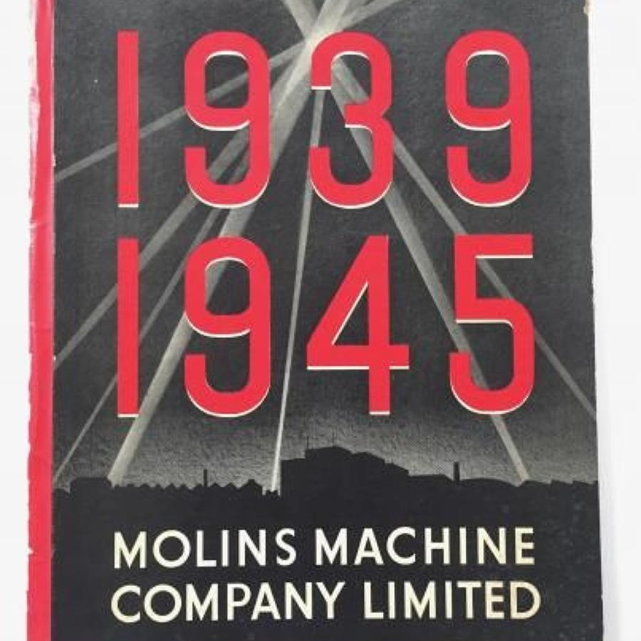 WW2 Home Front Molins Machine Company Limited War Service Book.