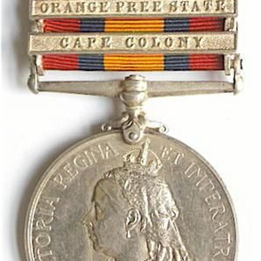 Cape Medical Staff Corps Casualty Queen's South Africa Medal.