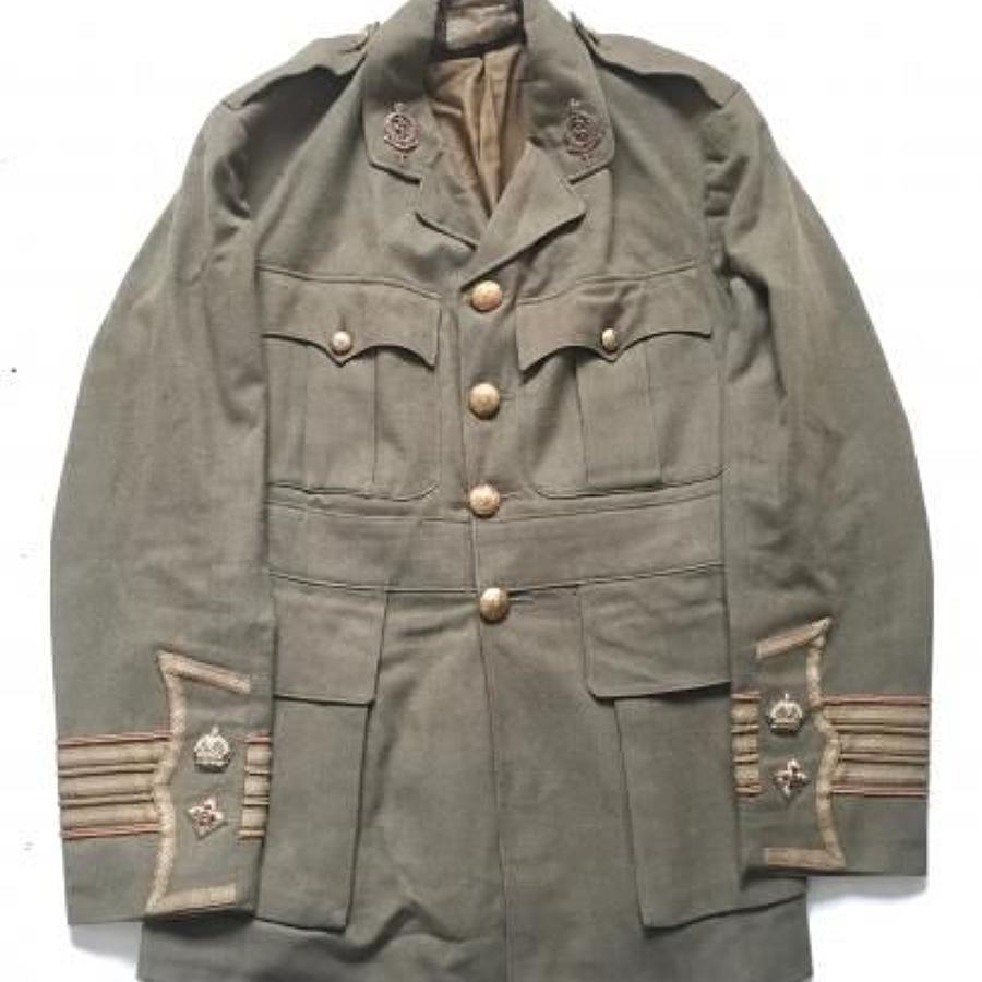 WW1 RAMC Attributed Officer's Cuff Rank Tunic.