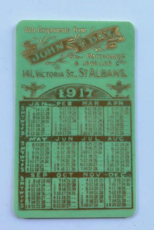 WW1 1917 Advertising Pocket Calendar