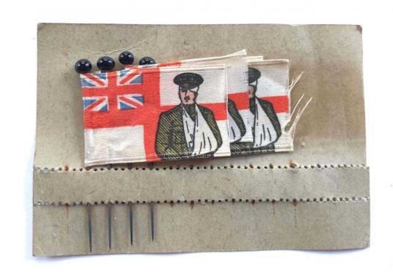 WW1 Fund Raising Flag Day Silk Flags.