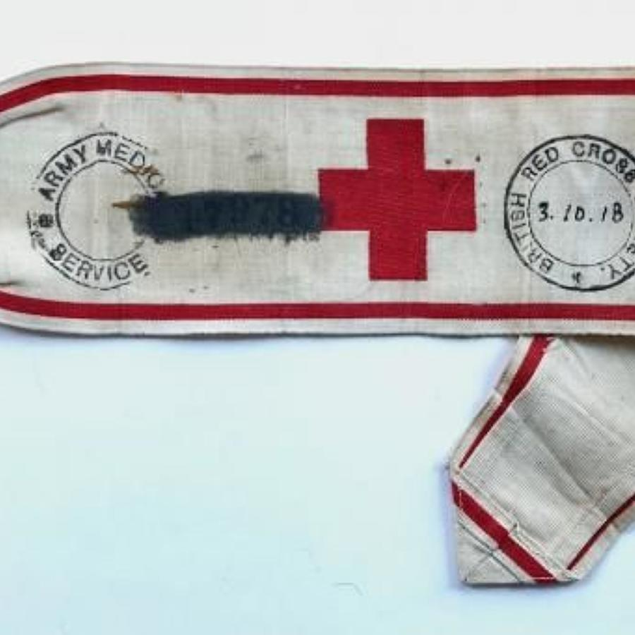 WW1 1918 Unusual Red Cross Army Band.