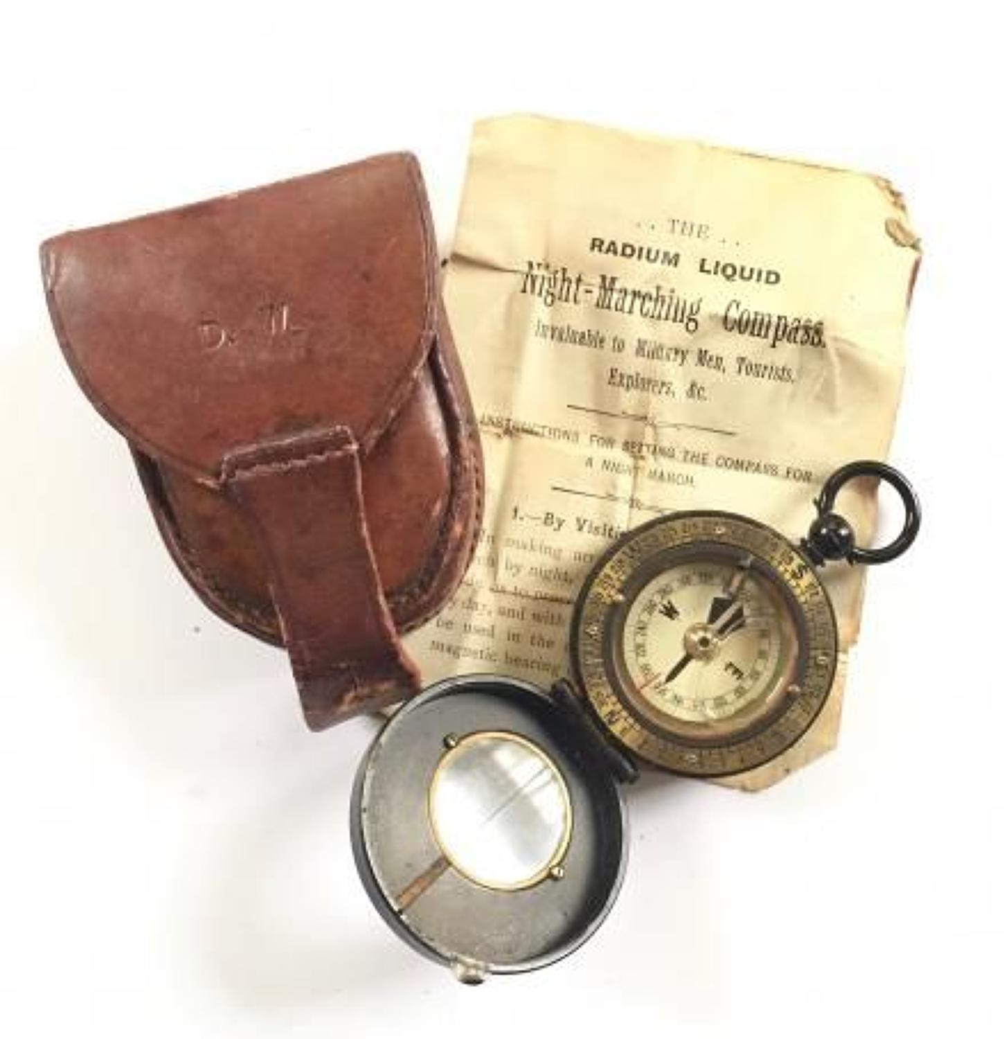 WW1 Period British Army Officer's Marching Compass.