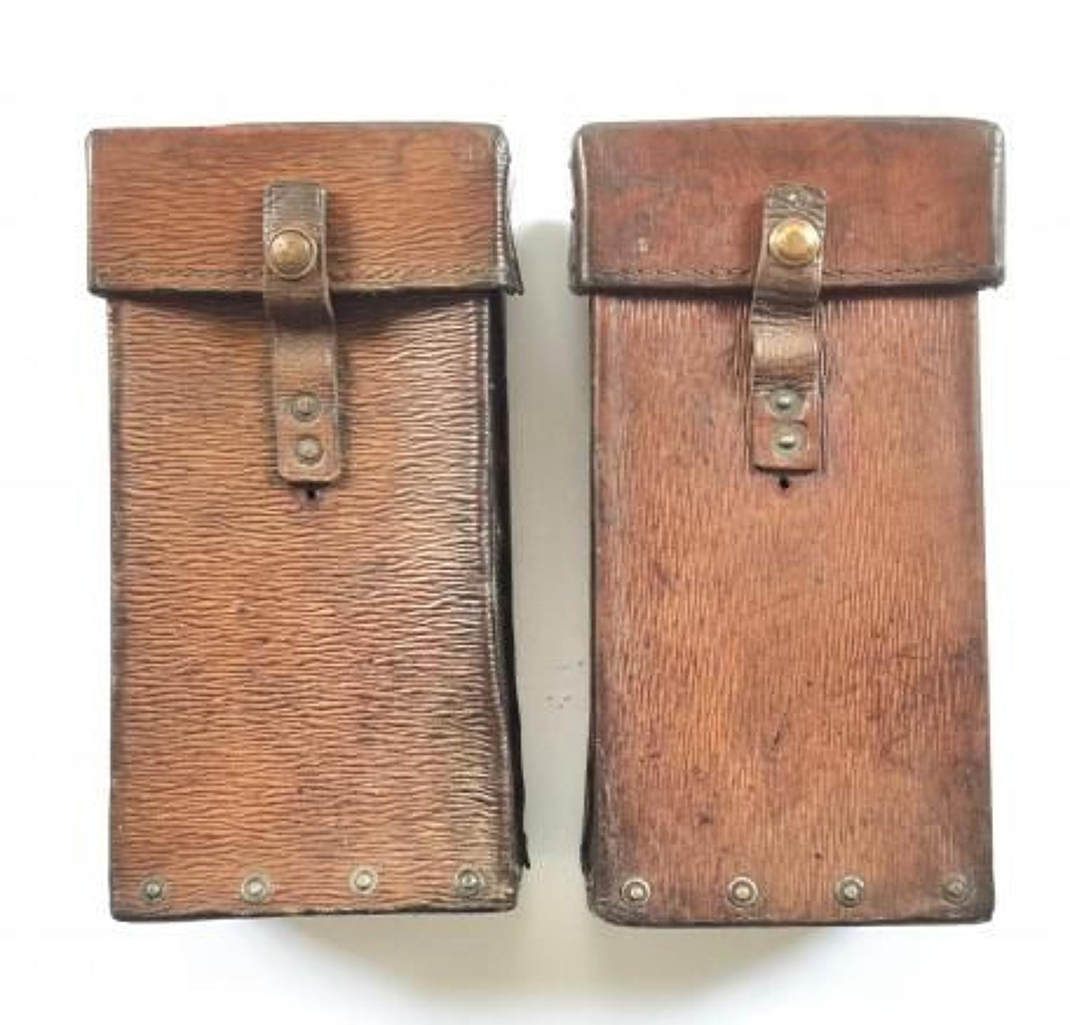 WW2 1939 Pattern Leather Equipment Pouches.