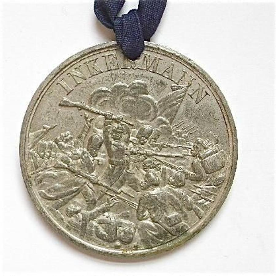Crimea War Battle of Inkermann medallion.