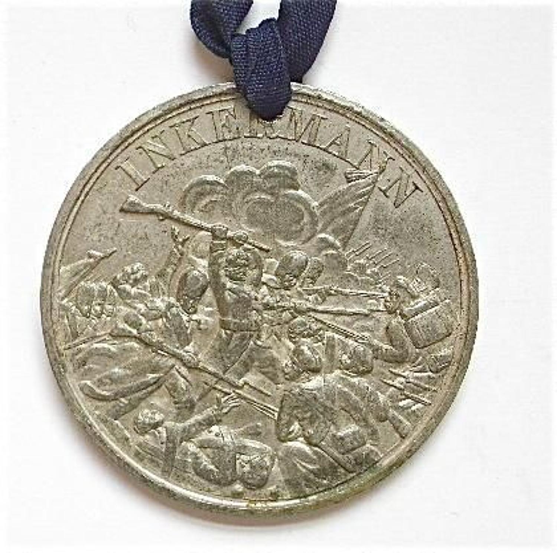 Crimea War Battle of Inkermann medallion.