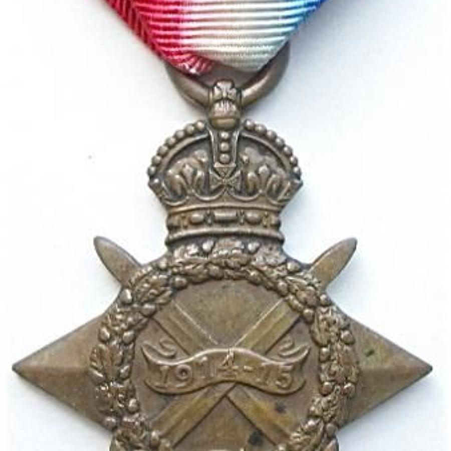 WW1 West Yorkshire Regiment Gallipoli Veteran 1914/15 Star Medal.