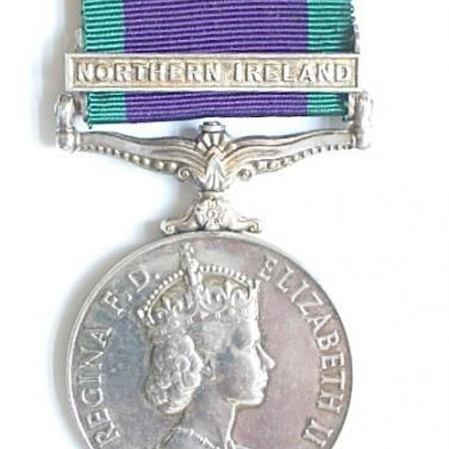 Royal Air Force Campaign Service Medal Clasp Northern Ireland