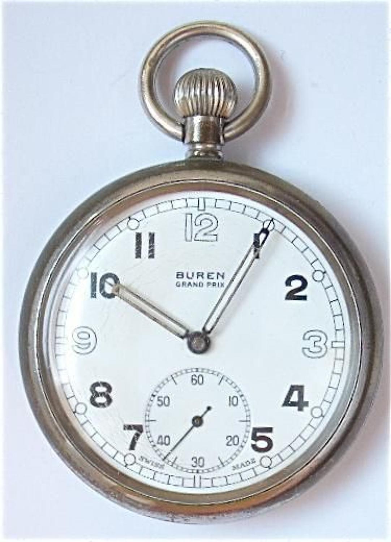 WW2 Period British Army Pocket Watch by Buren