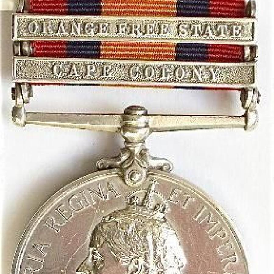 Rand Rifles Boer War Queen's South Africa Medal.