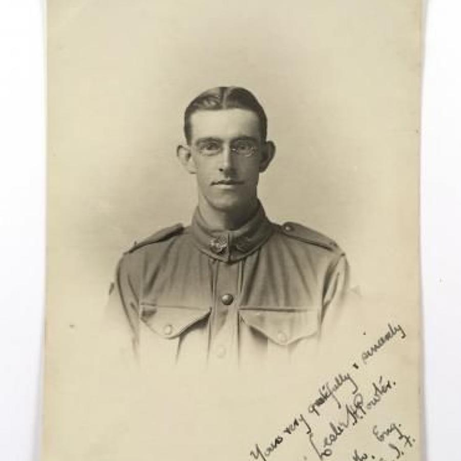WW1 24th Bn Australian Imperial Forces Original Signed Photograph.