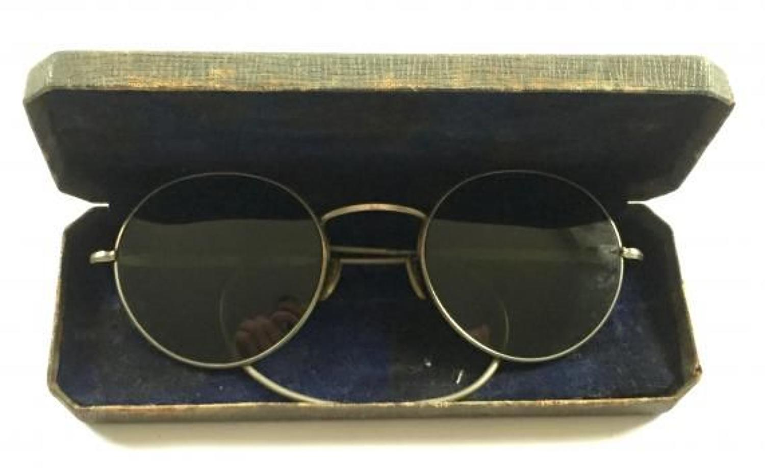 WW2 RAF Aircrew Flying Spectacles Sun Glasses.