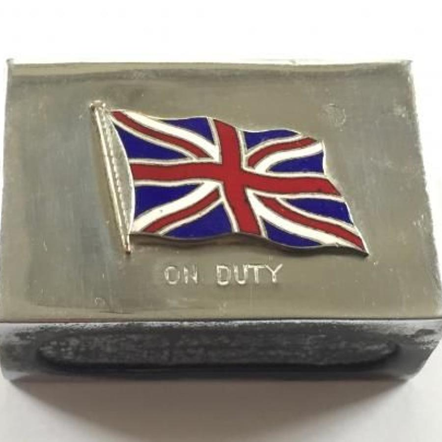 WW1 Period Patriotic Matchbox Holder.