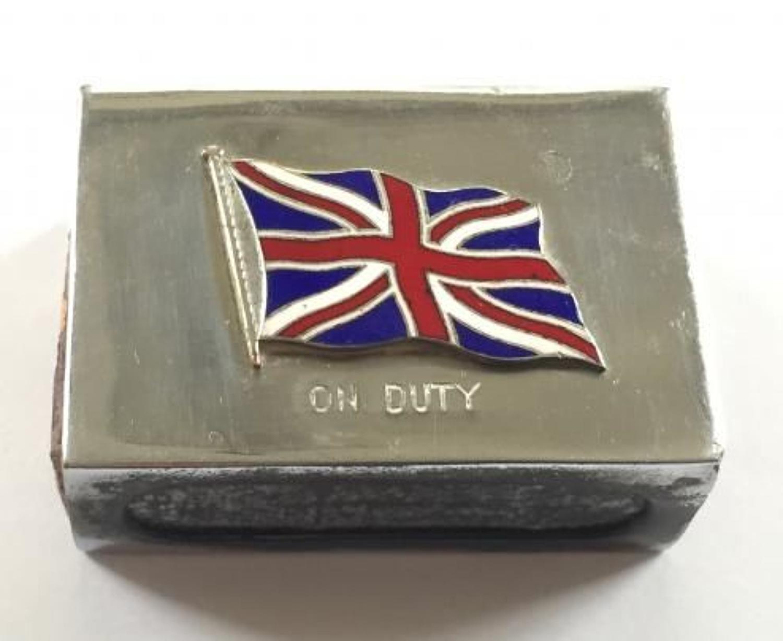 WW1 Period Patriotic Matchbox Holder.