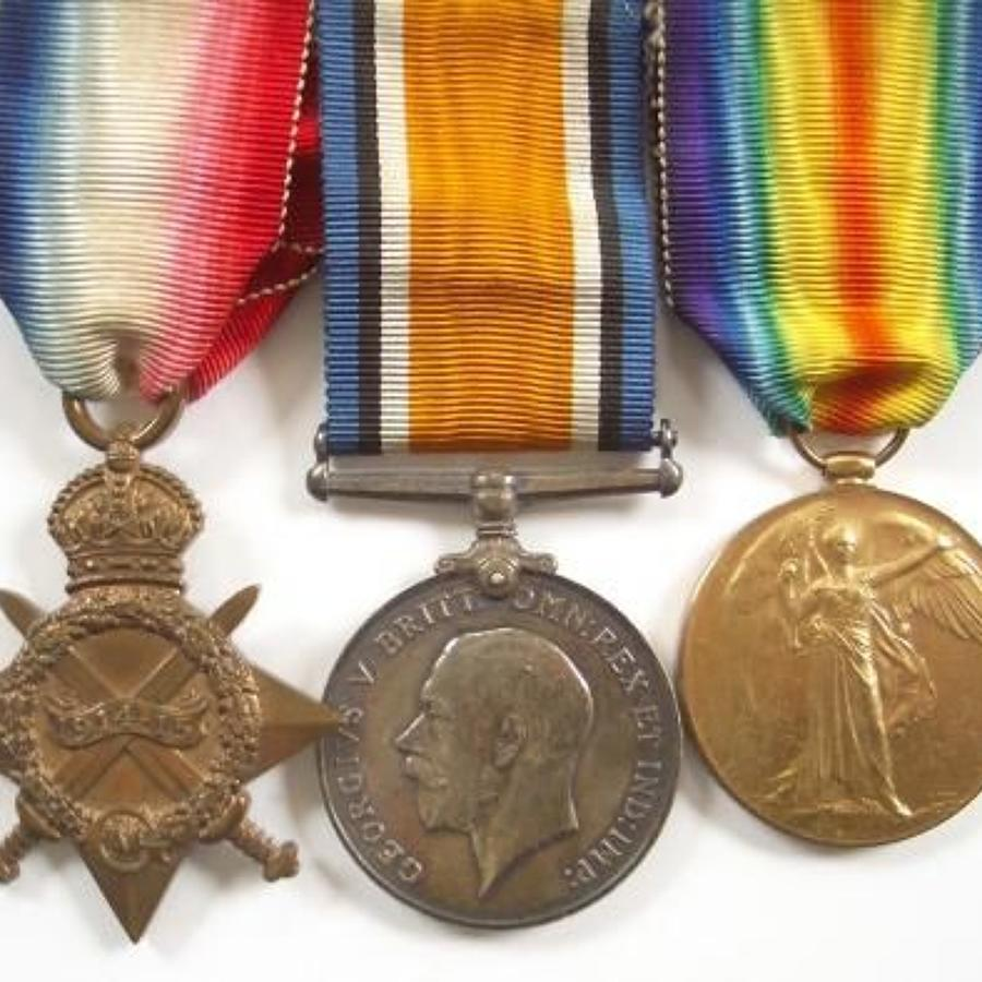 WW1 RAMC Officers Doctors Group of Three Medals.
