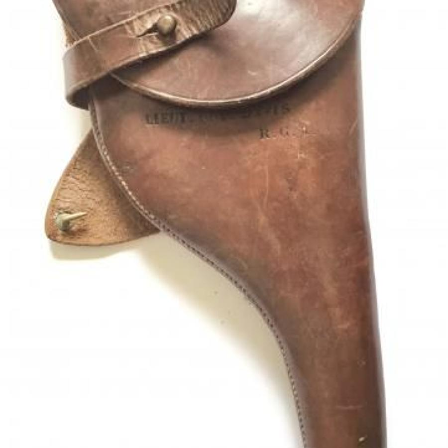 WW1 Royal Garrison Artillery Officers Attributed Pistol Holster.