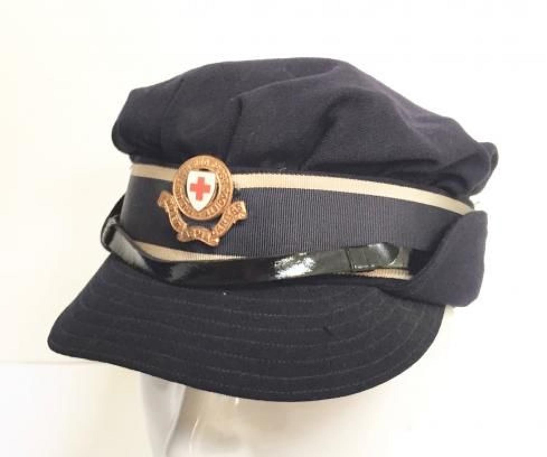 WW2 Period British Red Cross Peaked Cap.