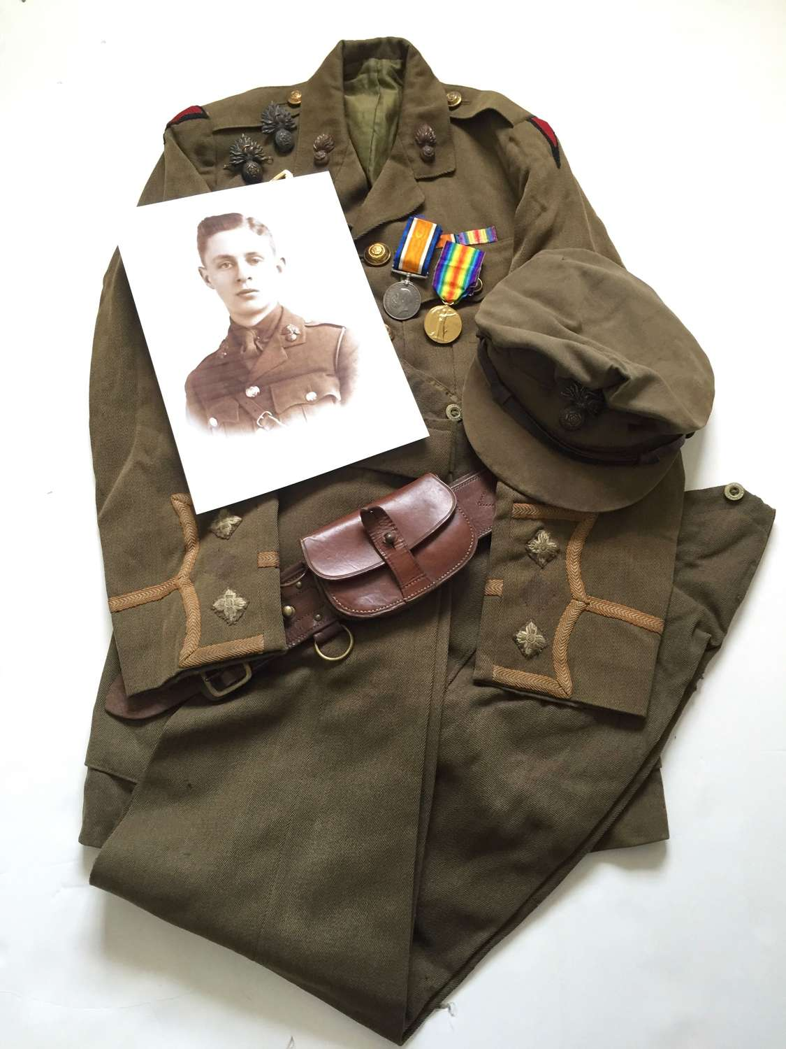 WW1 11th Bn Royal Fusiliers Outstanding Uniform Attributed Grouping.