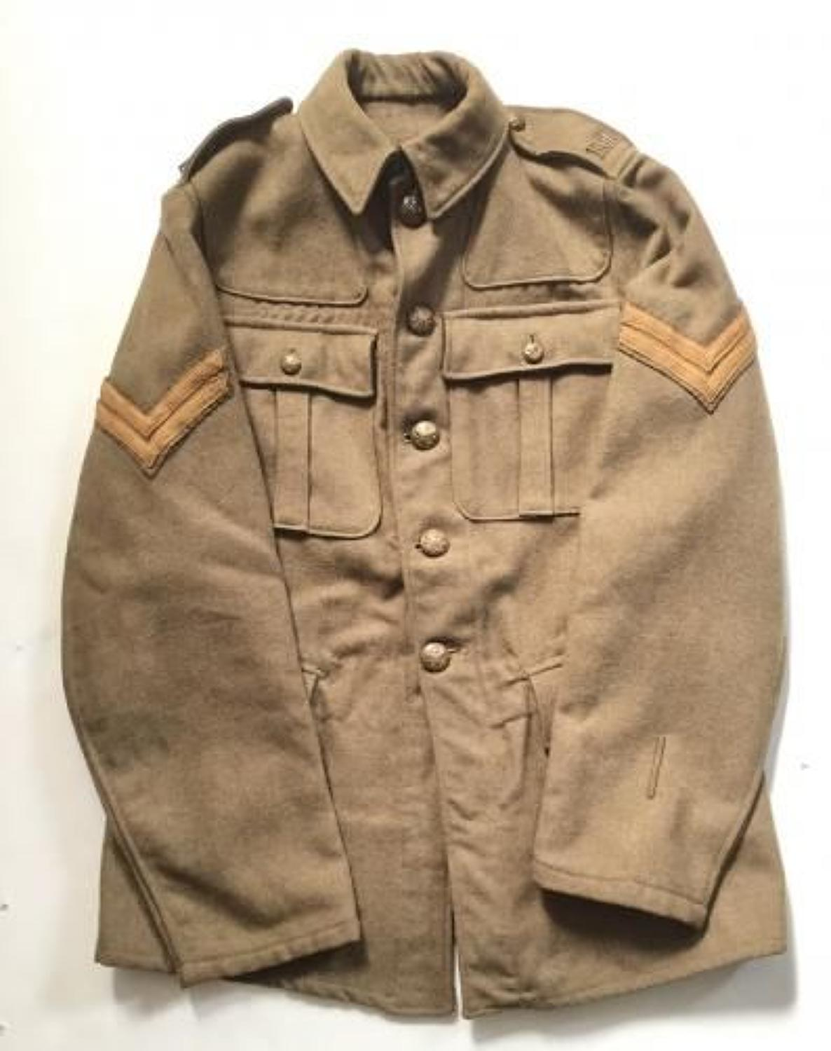 WW1 Royal Garrison Artillery 1902 Pattern Other Rank's Trench Tunic.