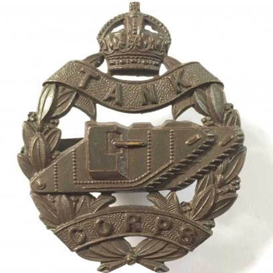 WW1 Tank Corps Officer's Cap Badge by Gaunt