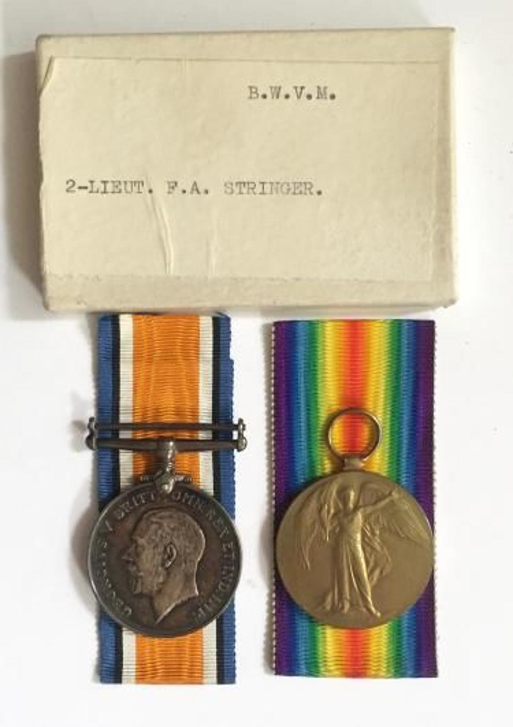 WW1 Royal Welsh Fusiliers Officer's Pair of Medals.