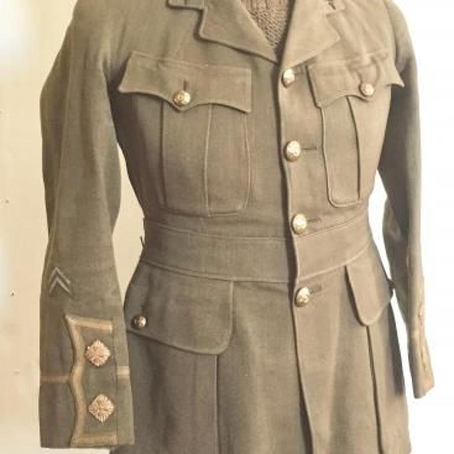 WW1 East Yorkshire Regiment Officer's Cuff Rank Tunic.