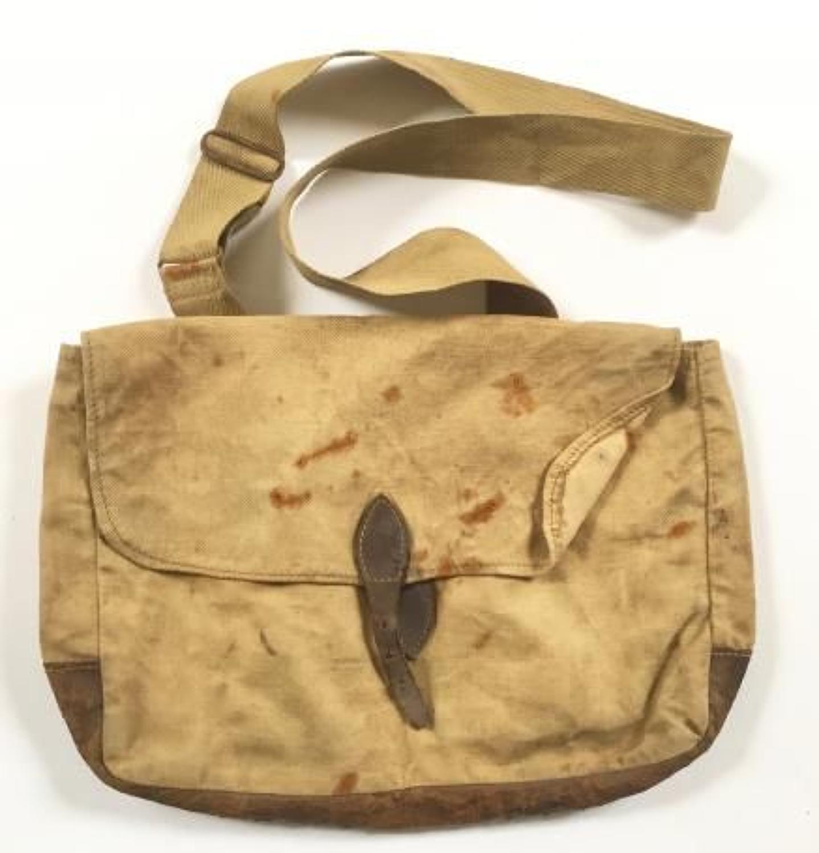 WW1 Period Canvas & Leather Side Bag.